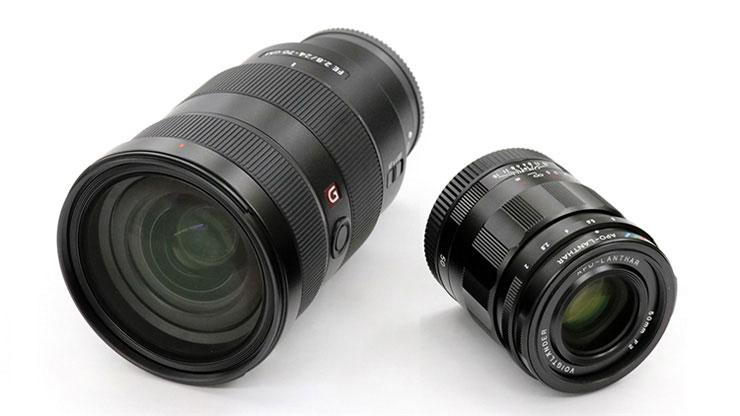 SONY24-70/2.8とアポランター50/2サイズ比較