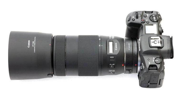 Canon(キヤノン) EOS R5 + EF70-300mm F4-5.6 IS II USM + フード