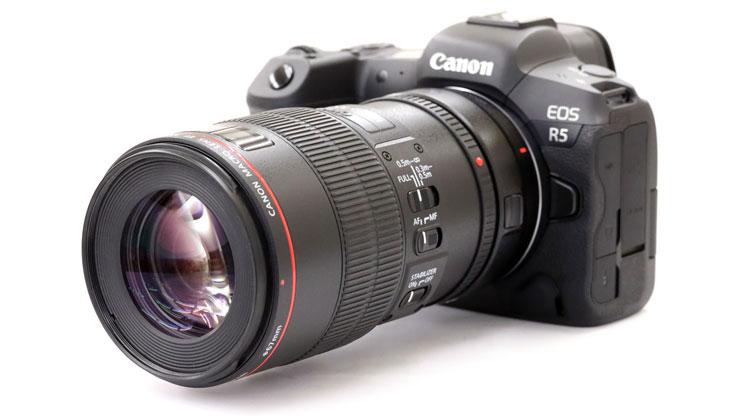 Canon(キヤノン) EOS R5 + EF100mm F2.8Lマクロ IS USM 本体1