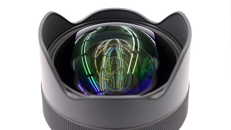 レンズ前面の写真