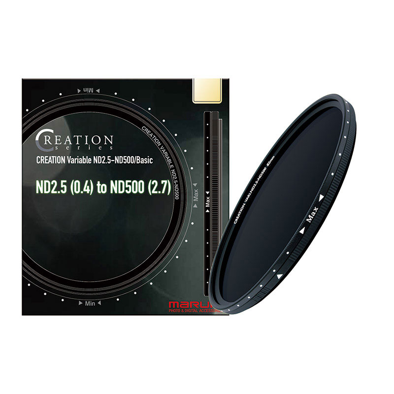 CREATION Variable ND2.5-ND500/Basic 58mm 【4月16日発売予定】